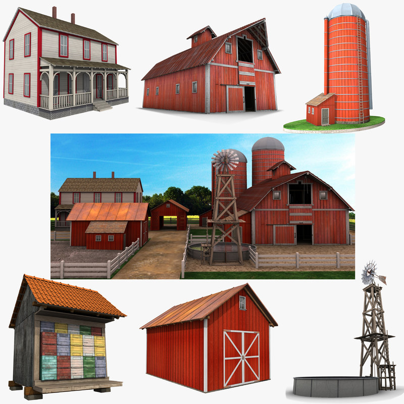 3D farm buildings