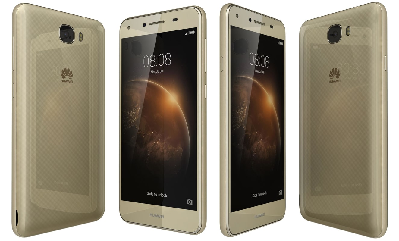 huawei y6ii compact gold 3D model