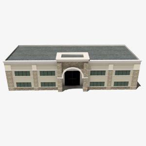 3D realistic office build