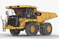 off-highway dump truck generic 3D