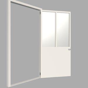 3D model beige door