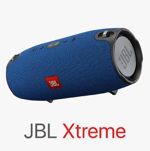 3D jbl xtreme model