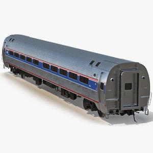 railroad amtrak passenger car interior 3d max