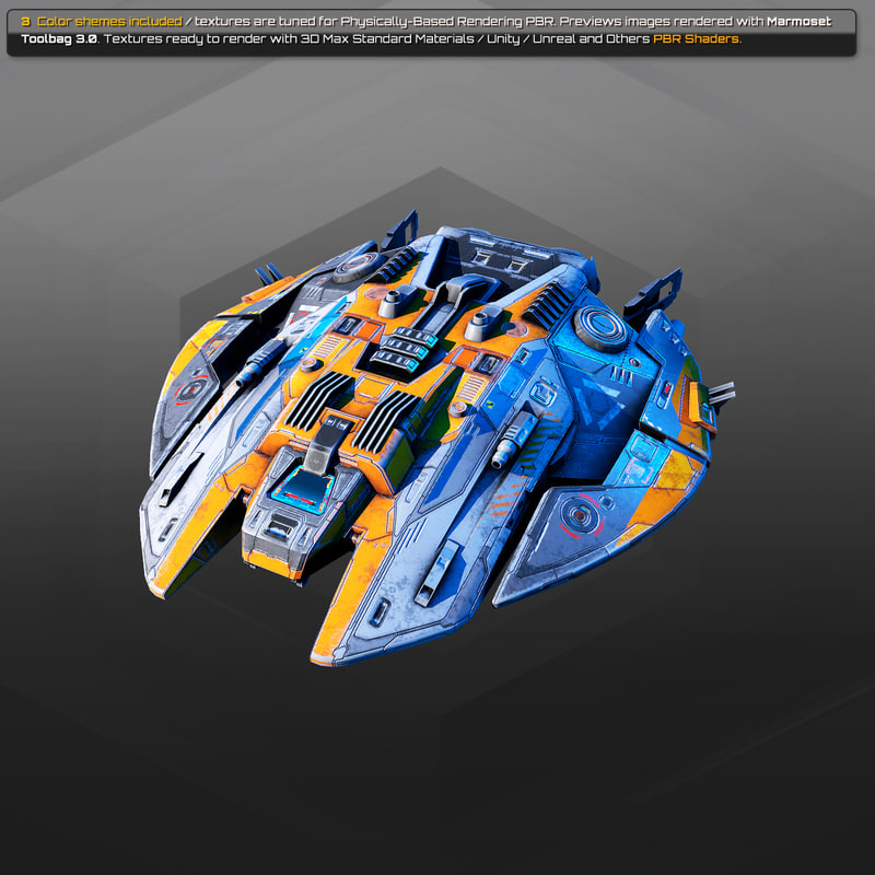 starship spacecraft 3D model