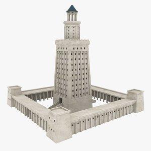 3D realistic lighthouse alexandria