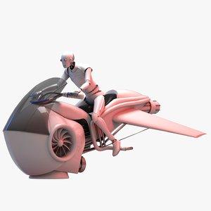 3D futuristic electric sci-fi