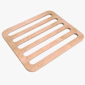 wooden trivet wood 3D model