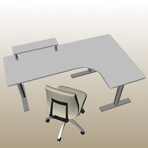 chairs conference table 3D model