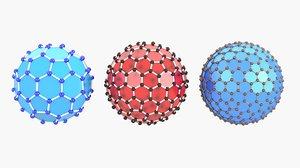 3D buckyballs model