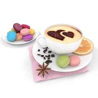 3D coffee macaron