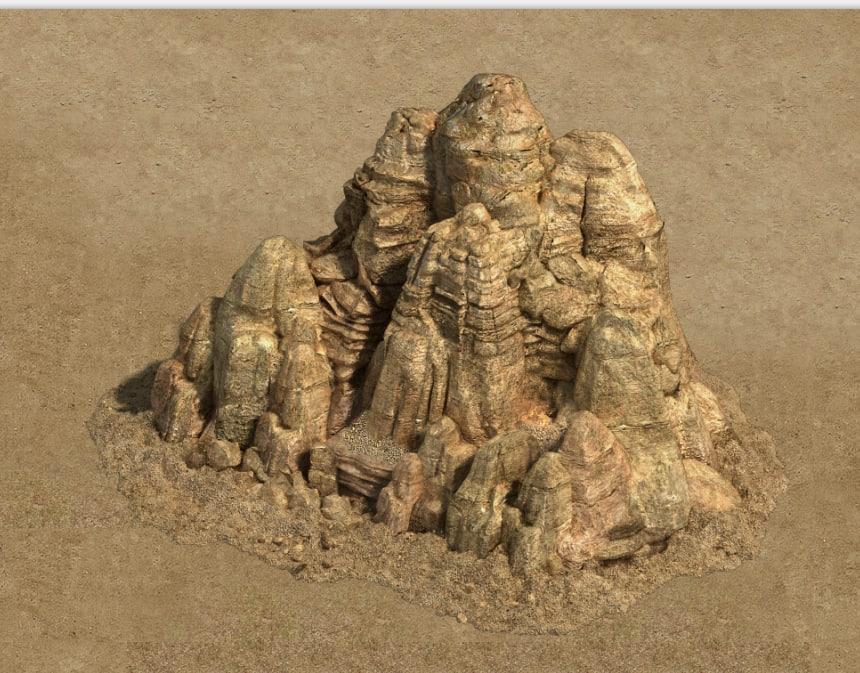 big stone 3D model