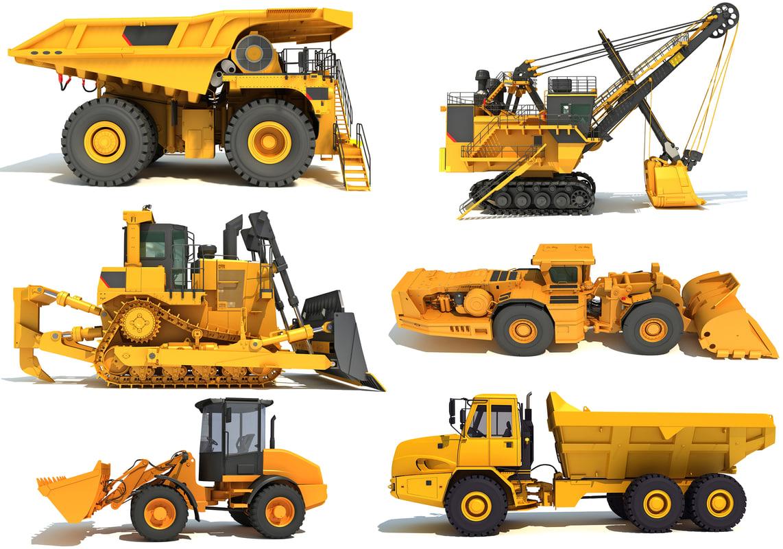 heavy construction machinery 3D model