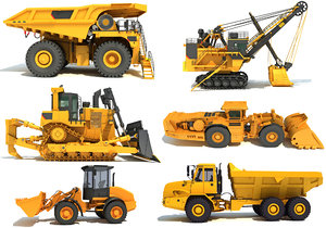 heavy construction machinery 3D model