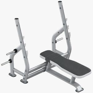 3D flat press bench model