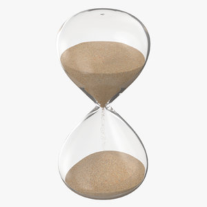 3D model glass sand hour 01
