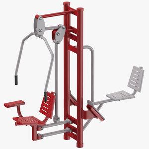 3D street fitness equipment 02