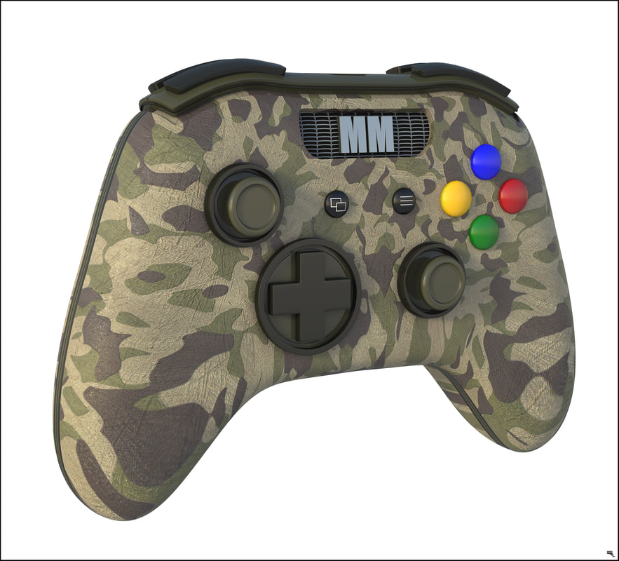 3D controller gamepad model