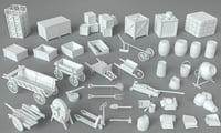 39 pieces 3D model