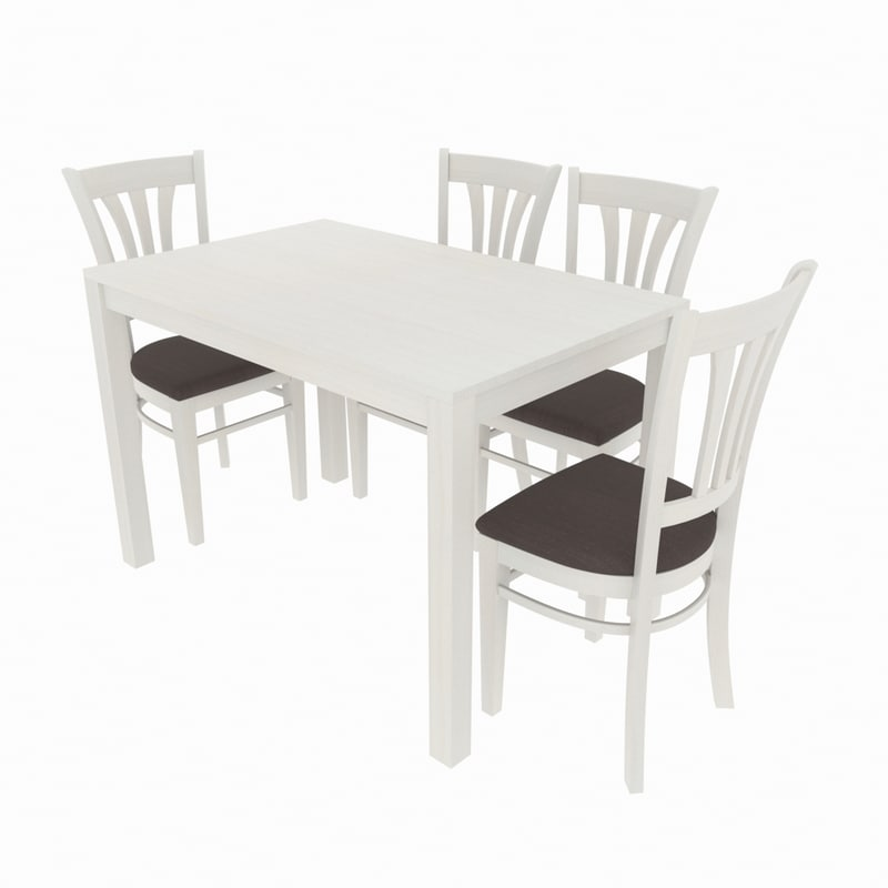 3D dining set consisting table chair