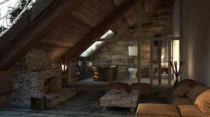 complete interior set- set 3D model