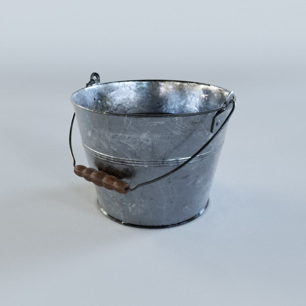 3D tin bucket