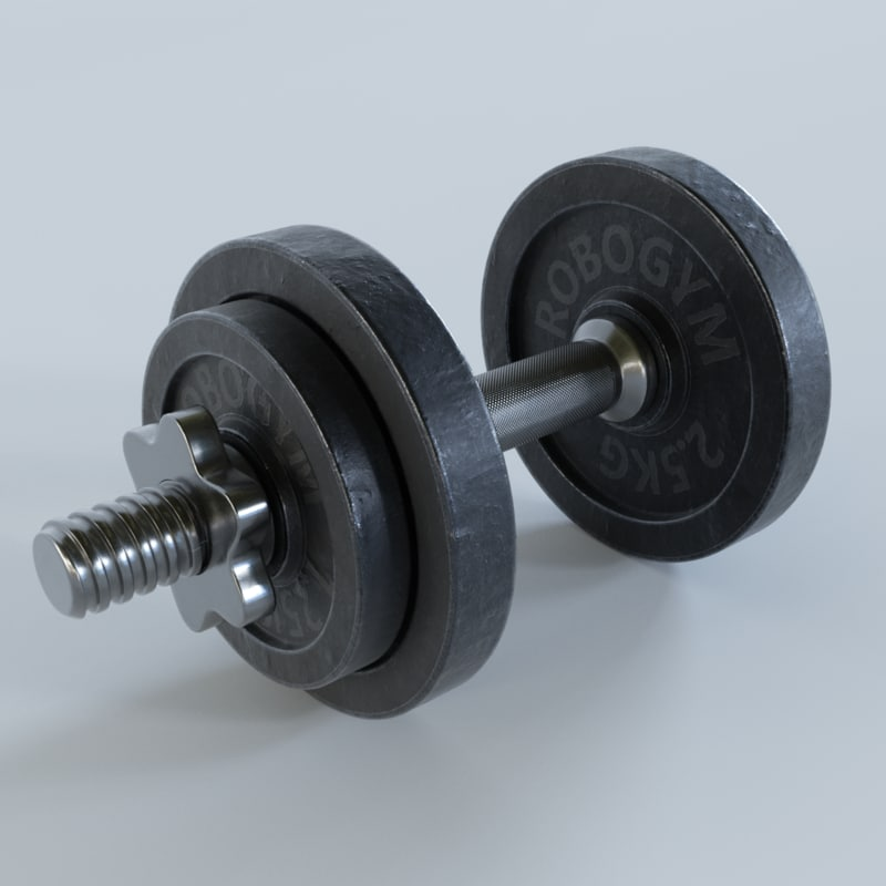 dumbbell subdivision pbr 3D model
