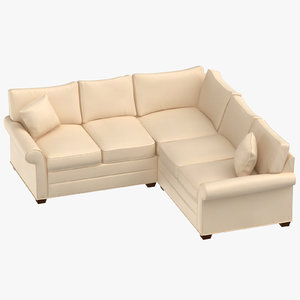 traditional sectional sofa 3D