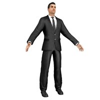 3D model businessman man