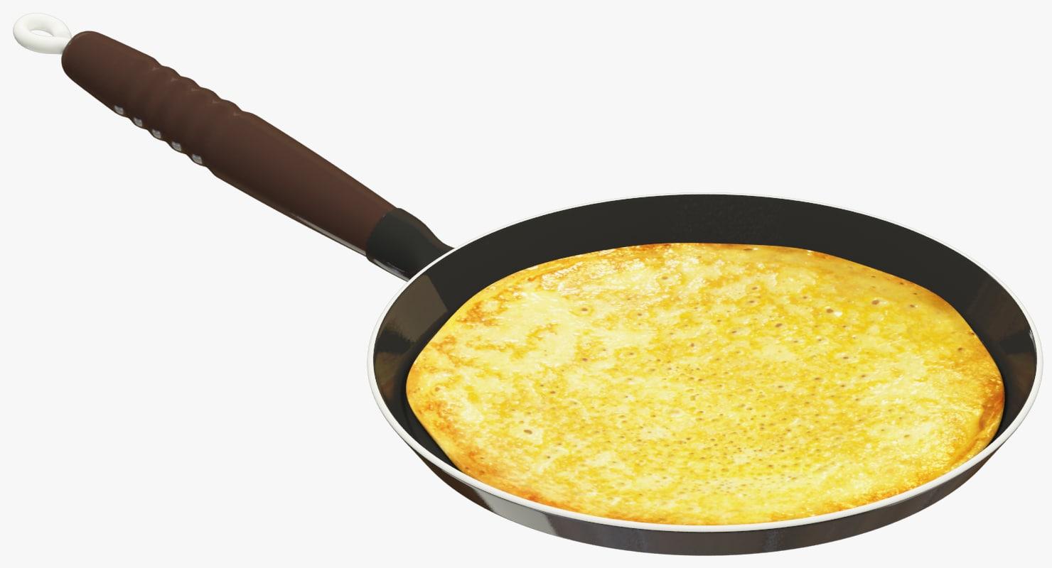 pancakes pan 3D model
