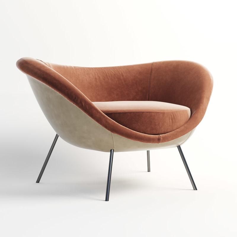 3D arm chair molteni