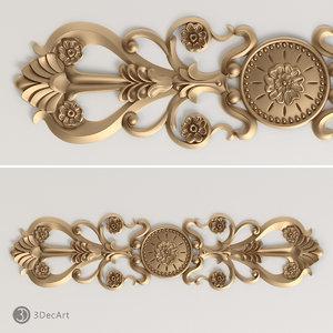 3d model decorative onlay