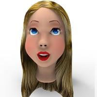 3D girl head model