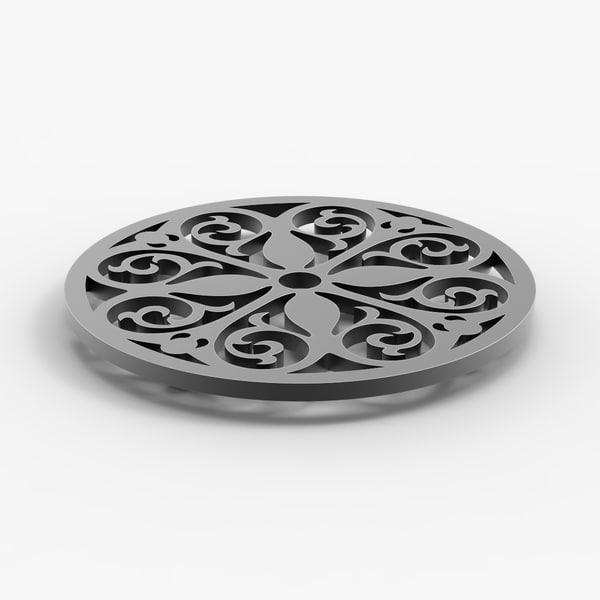 circle trivet 3D