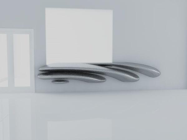 3D model interior modern table scene