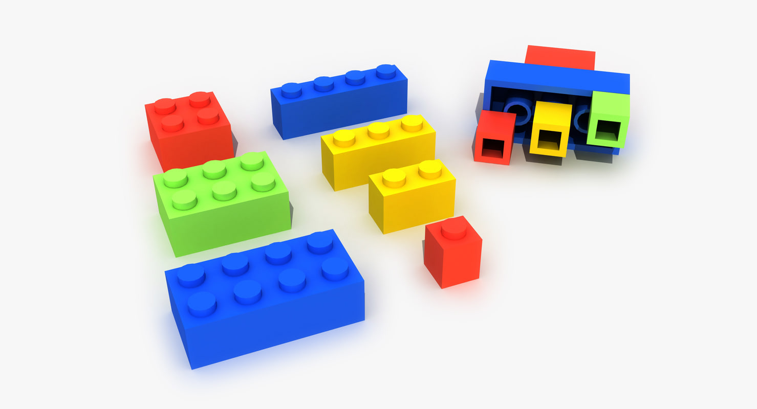 3D color lego