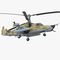 attack helicopter kamov ka-50 3D model
