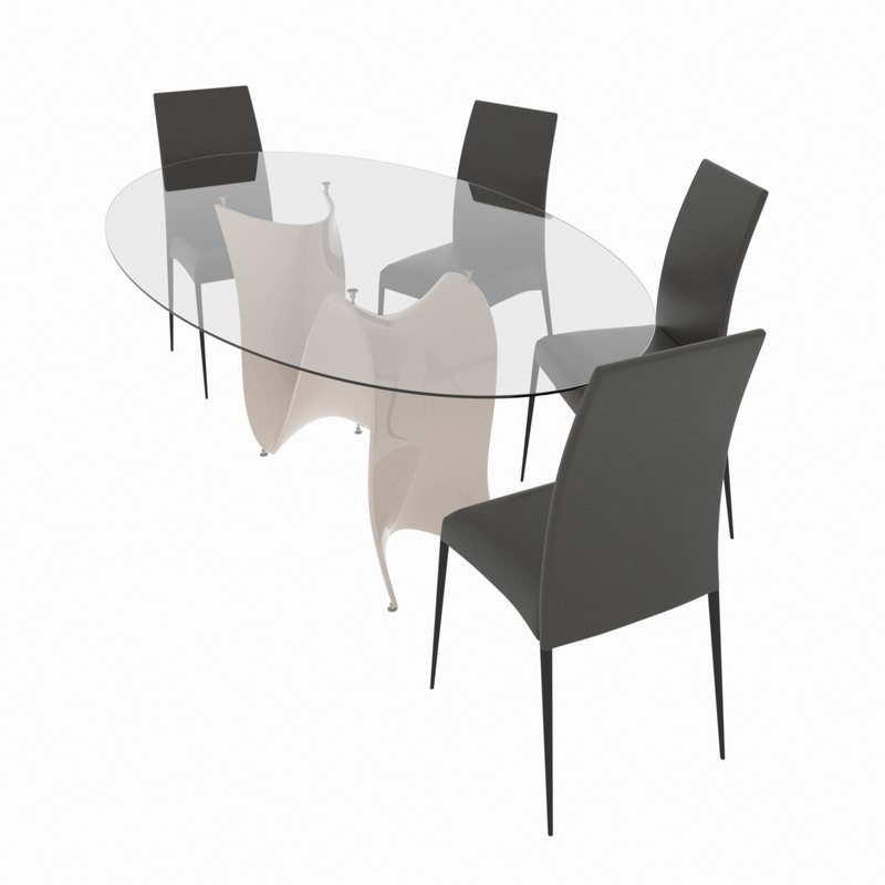 dining set consisting table chair 3D model