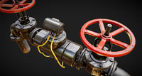 3D pbr modular pipes set model