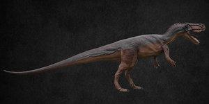 dinosaur torvosaurus 3D