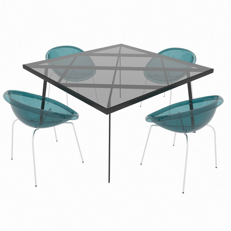 dining set classic italian design 3D model