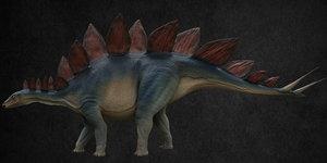 3D dinosaur stegosaurus