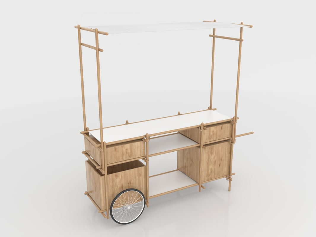 3D model food stand