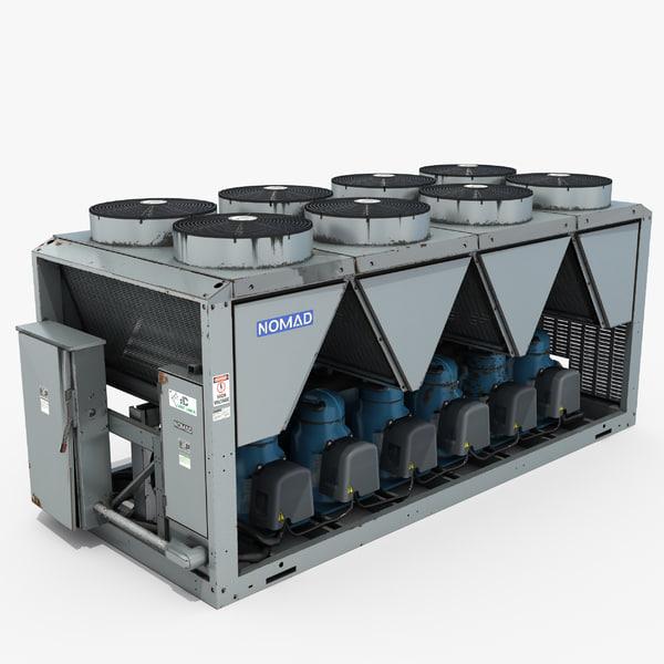 3D industrial hvac unit model