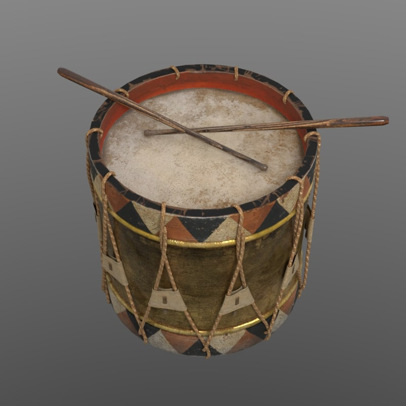 19th military drum model