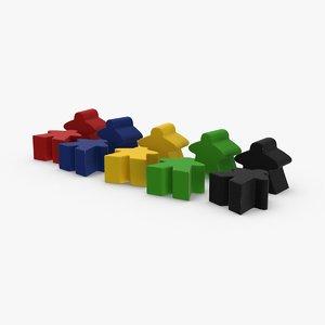 board figures 3D model