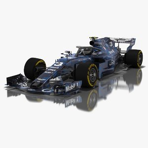 3D grey cat gc14 formula 1 model