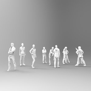3D group 10 people