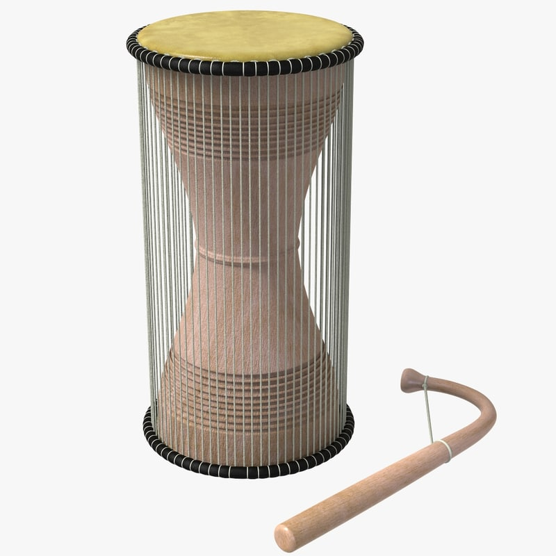 african talking drum beater 3D model