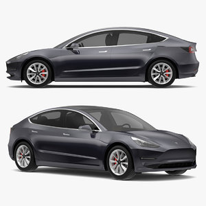 tesla 3 modeled s 3D