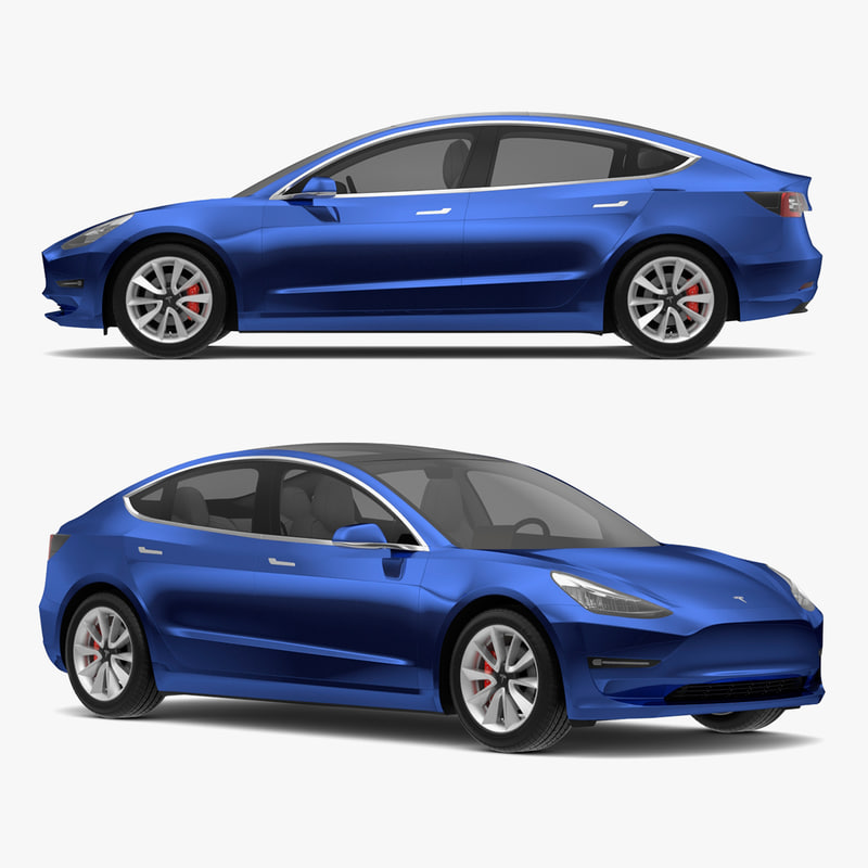 tesla 3 modeled s 3D model